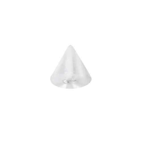 1.2mm Piercingverschluss Chirurgenstahl 316L Acrylglas Streifen Rillen Linien
