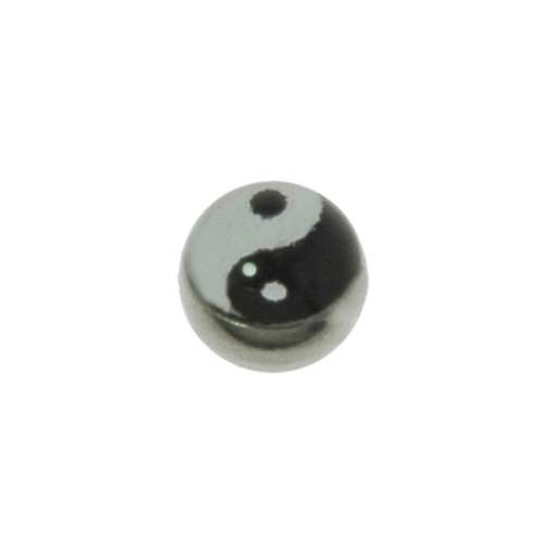 1.2mm Piercing-Kugel Chirurgenstahl 316L Glas Yin_Yang