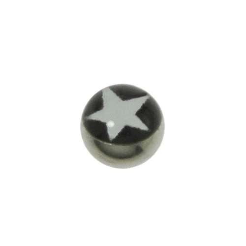 1.2mm Piercing-Kugel Chirurgenstahl 316L Glas Stern