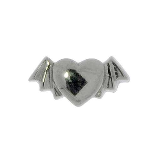 1.2mm Piercingverschluss Chirurgenstahl 316L Herz Liebe Flügel Fledermaus
