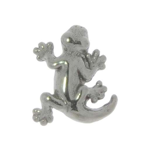 1.2mm Piercingverschluss Chirurgenstahl 316L Salamander Gecko Gekko