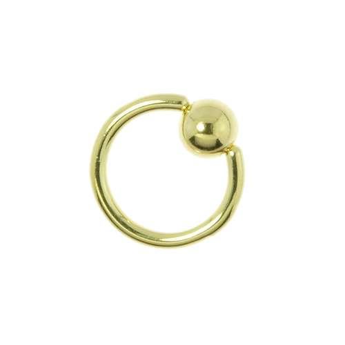 1.2mm Piercingstab Chirurgenstahl 316L Gold-Beschichtung (vergoldet)