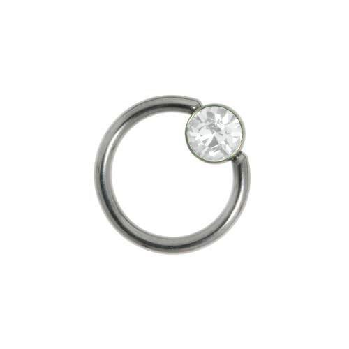 1.2mm Piercingstab Chirurgenstahl 316L Swarovski Kristall