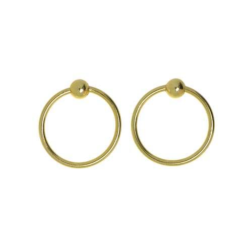 Nagelpiercing Silber 925 Gold-Beschichtung (vergoldet)