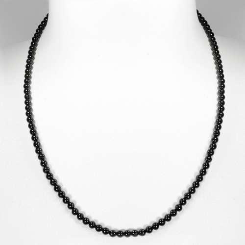 Steinkette Schwarzer Onyx