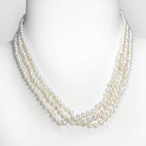 Perlen-Halskette Silber 925 Süsswasserperle