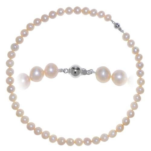 Perlen-Halskette Süsswasserperle Silber 925