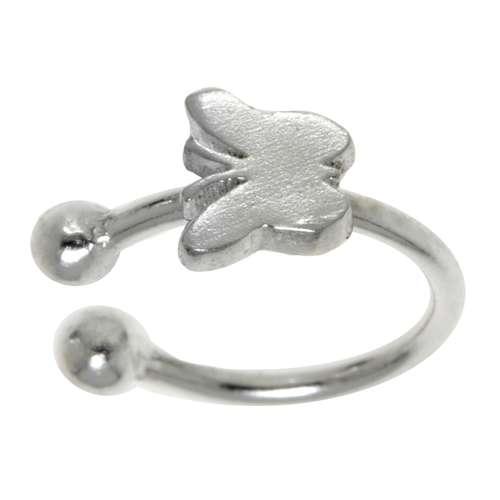 Nasenclip aus Silber 925. Querschnitt :1mm. Durchmesser:7mm. Breite:4mm. Gewicht:0,24g. Silber 925 Schmetterling Sommervogel