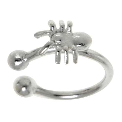 Nasenclip Silber 925 Spinne Spinnennetz
