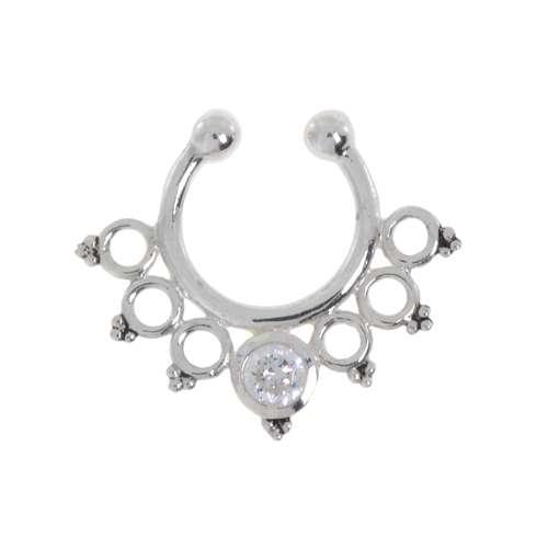 Nasenclip Silber 925 Kristall