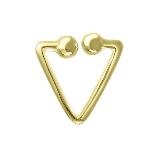 Nasenclip Silber 925 Gold-Beschichtung (vergoldet) Dreieck
