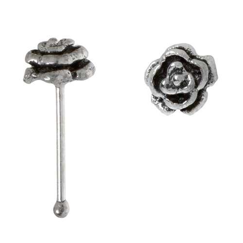 Nasenpiercing Silber 925 Rose Blume