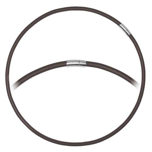 Schlichte Halskette PVC Edelstahl