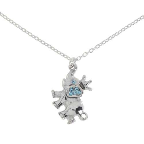 Kinder Halskette Silber 925 Kristall Ganesha Elefant