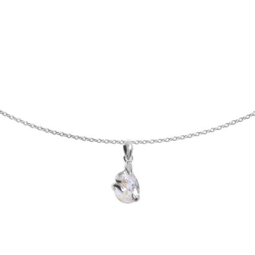 Halssieraad Zilver 925 Kristal Druppel Druppelvorm Waterdruppel