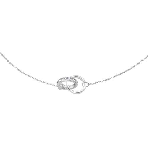 Halsschmuck Silber 925 Kristall Ewig Schlaufe Endlos