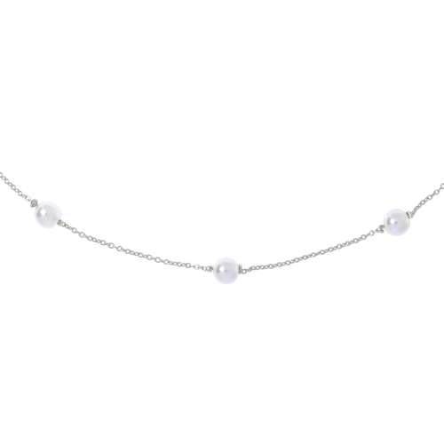 Halsschmuck Silber 925 Synthetische Perle