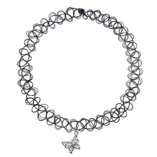 Halsschmuck Kunststoff Silber 925 Schmetterling Sommervogel
