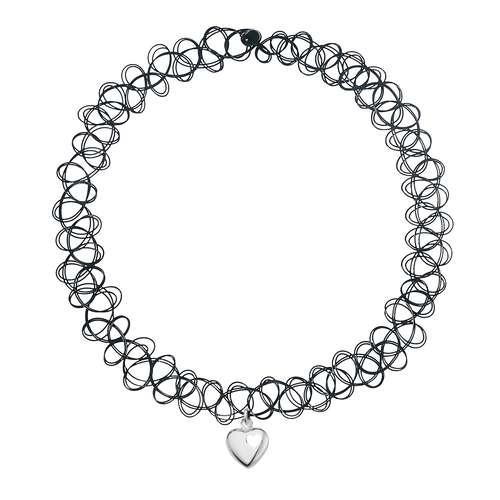 Halsschmuck Kunststoff Silber 925 Herz Liebe