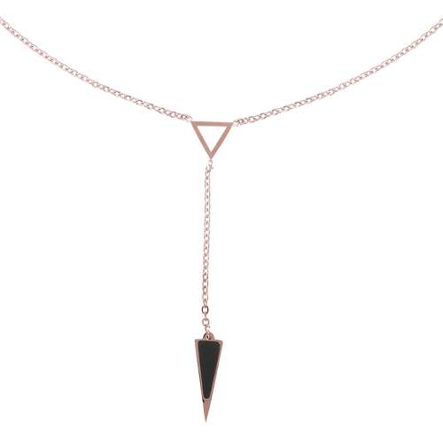 Halsschmuck Edelstahl PVD Beschichtung (goldfarbig) PVD Beschichtung (schwarz) Dreieck