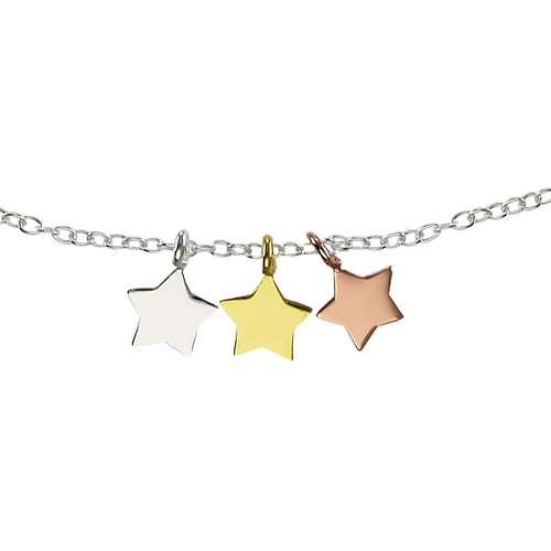 Kinder Halskette Silber 925 Gold-Beschichtung (vergoldet) Stern