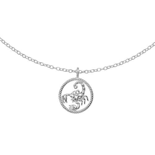 Halsschmuck Silber 925 Sternzeichen Horoskop Skorpion
