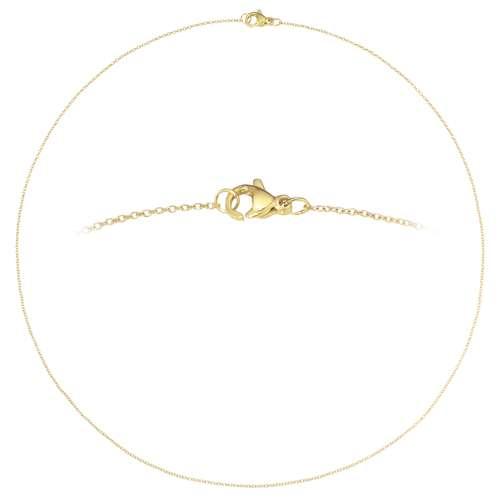 Halskette Edelstahl PVD Beschichtung (goldfarbig)