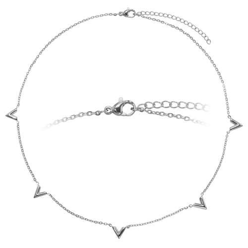 Halskette Edelstahl Dreieck Buchstabe Zahl Ziffer