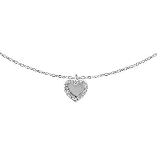 Halsschmuck Silber 925 Zirkonia Herz Liebe