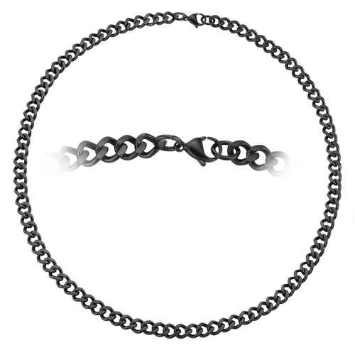 Halskette Edelstahl PVD Beschichtung (schwarz)