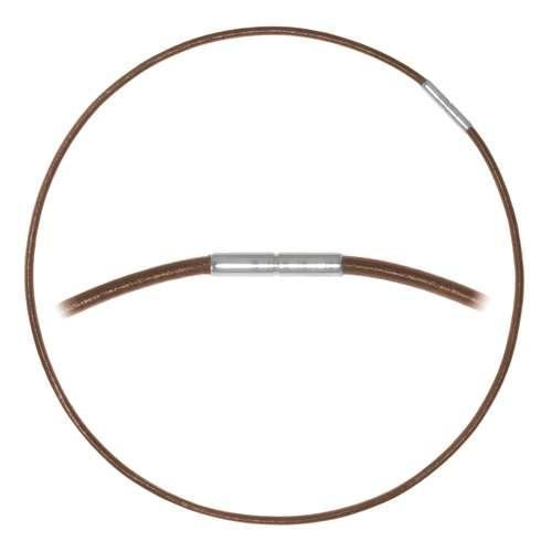 Schlichte Halskette Leder Edelstahl