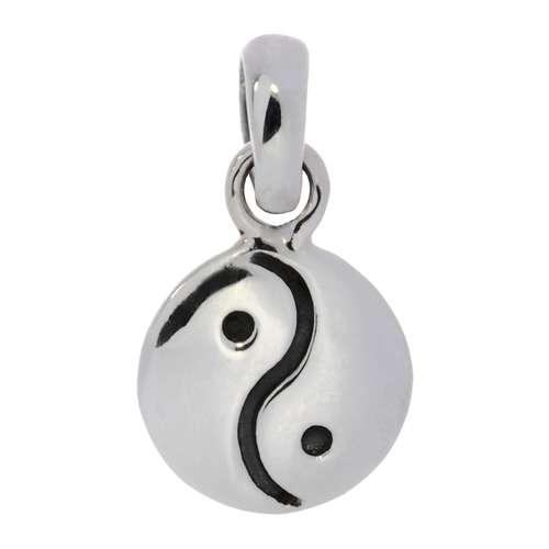 Petit pendentif en argent Argent 925 Yin_Yang Taijitu