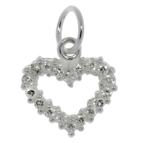 Kleiner Silber-Anhänger Silber 925 Kristall Herz Liebe