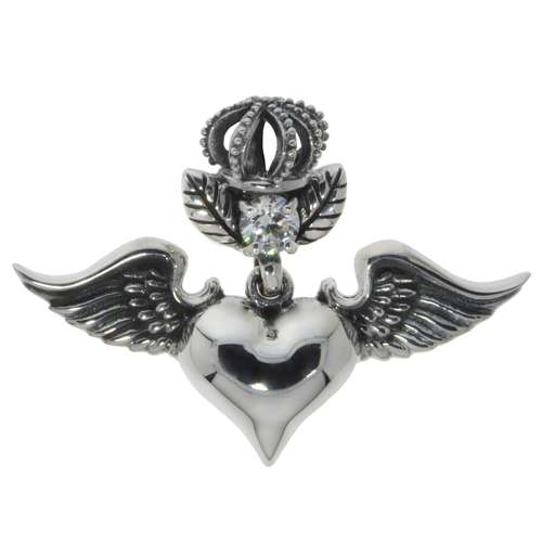 Silber-Anhänger Silber 925 Zirkonia Love Liebe Herz Liebe Flügel
