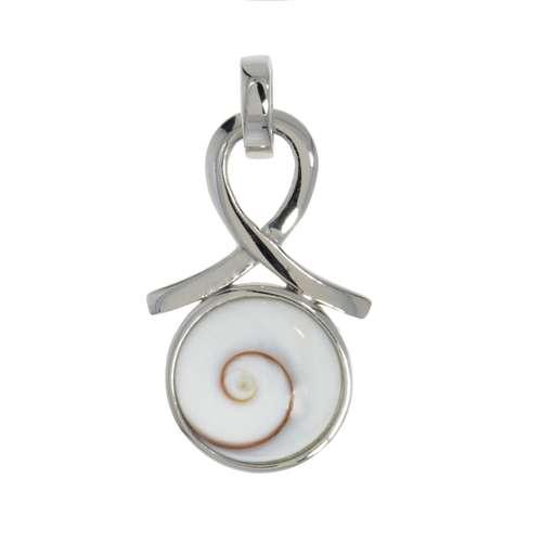 Muschel-Anhänger Silber 925 rhodiniertes Silber 925 Shiva´s Eye Muschel Spirale