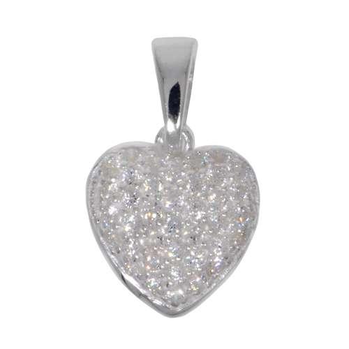 Silber-Anhänger Silber 925 Zirkonia Herz Liebe