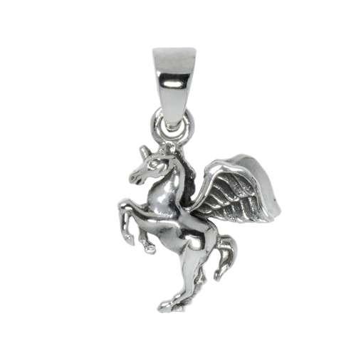 Silber-Anhänger Silber 925 Pferd Hengst Fohlen Flügel