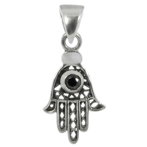 Kinder Halskette Zirkonia Silber 925 Hand