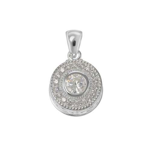 Silber-Anhänger Silber 925 Zirkonia Kristall