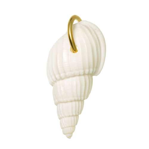 Edelstahl-Anhänger Edelstahl PVD Beschichtung (goldfarbig) Muschel