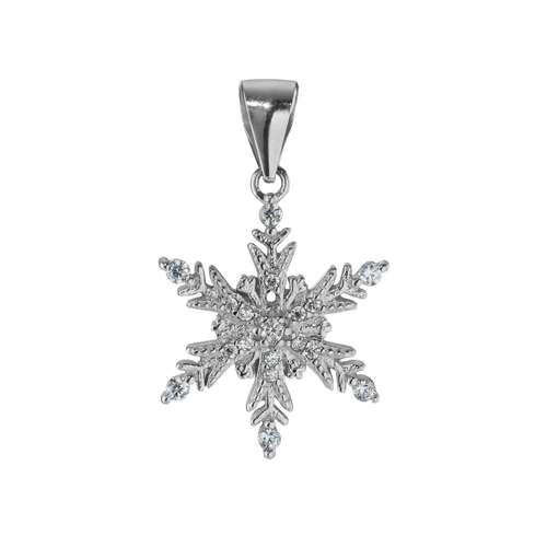 Silber-Anhänger Silber 925 Zirkonia Schneeflocke