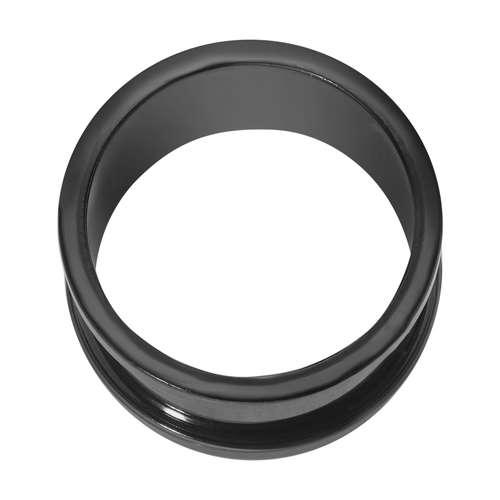 Plug Chirurgenstahl 316L PVD Beschichtung (schwarz)