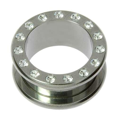 Plug Chirurgenstahl 316L Swarovski Kristall