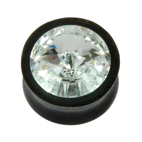 Plug Buffalo Horn Swarovski Kristall