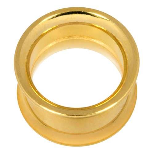 Plug Chirurgenstahl 316L Gold-Beschichtung (vergoldet)