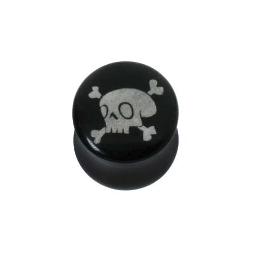 Plug Acrylglas Totenkopf Schädel Knochen