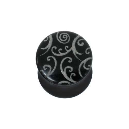 Plug Cristal acrílico  Hoja Diseño_floral Dibujo_Tribal Diseño_Tribal Espiral
