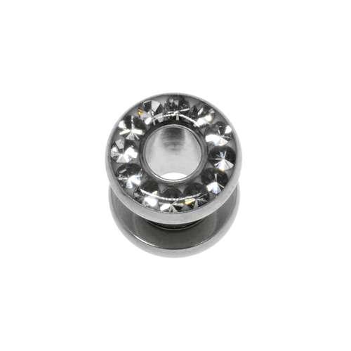 Plug Chirurgenstahl 316L Swarovski Kristall Epoxiharz