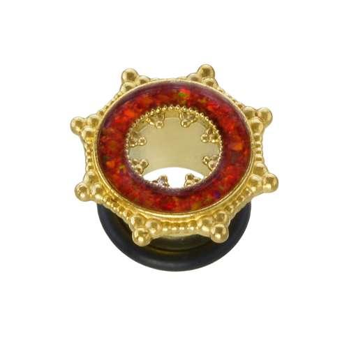 Plug Messing Synthetischer Opal PVC Blume