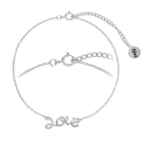 Silber-Armkettchen Silber 925 Love Liebe